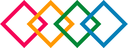Centre for Health Innovations logo, four colorful squares